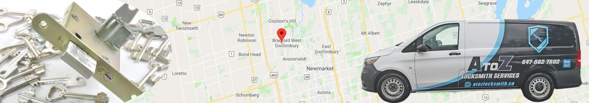 Locksmith Bradford Ontario